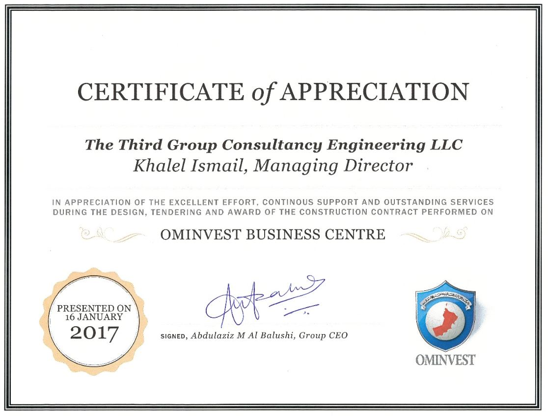 Appreciation Certificates from OMINVEST